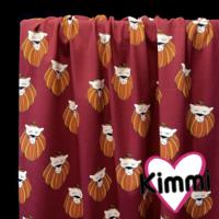 Kimmi, luomupuuvillatrikoo: Lion, viininpunainen