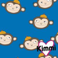 Kimmi, luomupuuvillatrikoo: Monkey, sininen