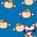 Kimmi, Organic jersey: Monkey, blue