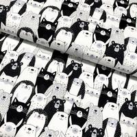 Puuvilla: Kissat ja eläimet, mustavalkoinen