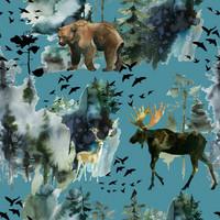 Luomupuuvillatrikoo: Hirvet ja karhut, petrooli