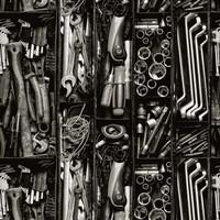 Luomupuuvillatrikoo: Työkalut, musta - valkoinen