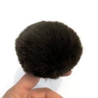 Pehmotupsu 8cm, tummanruskea