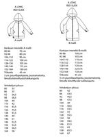 Jujuna, kaavapaketti: Lasten raglancolleget 80-164 cm