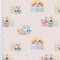 Snoopy joustocollege: Snoopy hug, vaalea vaaleanpunainen
