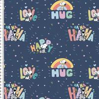 Snoopy joustocollege: Snoopy hug, tummansininen