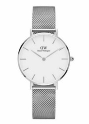 DW00100164 Classic Petite Sterling White rannekello