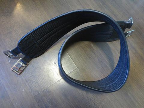Equi Guard musta neopreeni satulavyö 130 cm