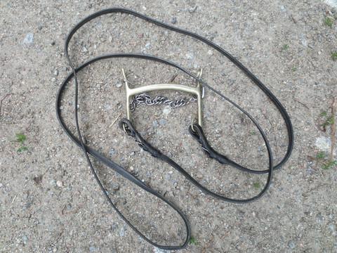 Messinkinen kaareva kankikuolain mustilla kankiohjilla 14,5 cm
