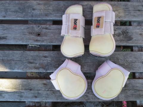 Horzen vaaleanpunainen-valkoinen suojasetti FULL