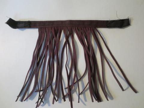 Kärpäshapsu riimuun, viininpunainen 42 cm