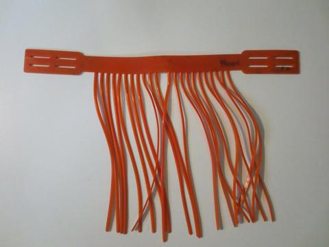 Kuminen oranssi kärpäshapsu riimuun 33-41 cm