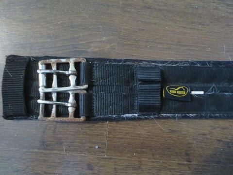 Euro Hunter musta kankainen koulusatulavyö 70 cm