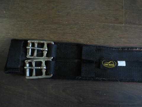 Euro Hunter musta kankainen koulusatulavyö 75 cm