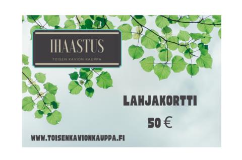 Ihaastuksen lahjakortti 50 €