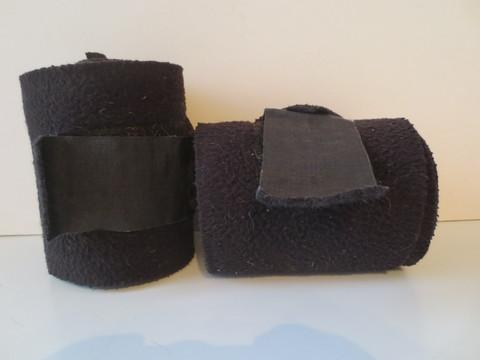 Mustat fleecepintelit 2 kpl