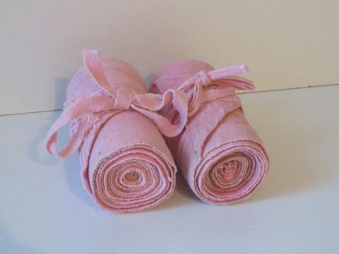 Vaaleanpunaiset vanhanajan narupintelit 2 kpl