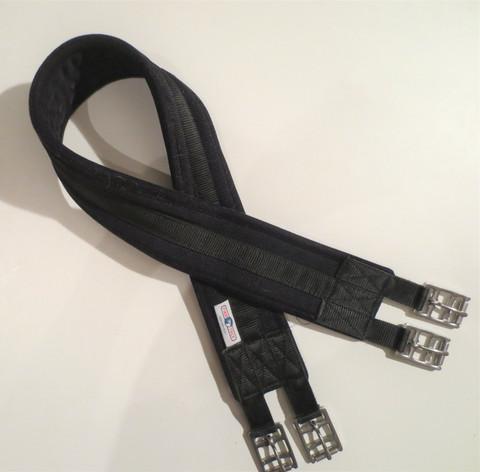 FinnTack musta kankainen satulavyö 110 cm