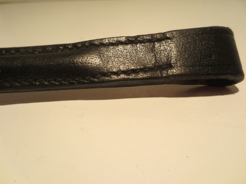 UUSI musta Micklem-suitsiin menevä nahkainen otsapanta 40 cm
