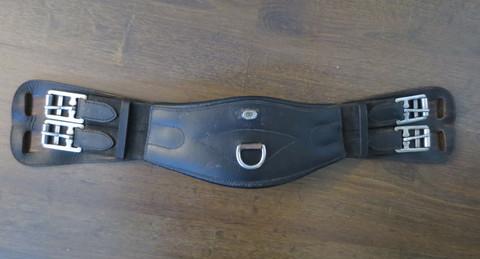 Glen Gordon-merkkinen anatominen satulavyö mustaa nahkaa 55 cm