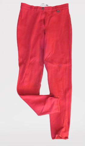 Pirteän punaiset kangaspolvipaikkaiset ratsastushousut 36