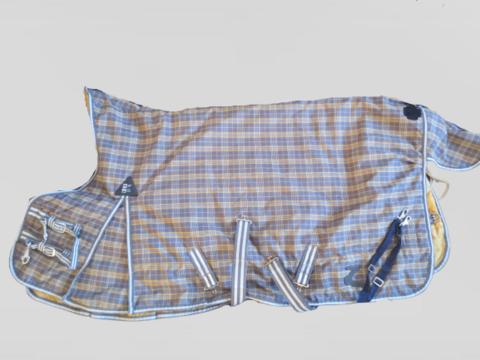 Horze kelta-harmaa ruudullinen ulkotoppaloimi 300 g 115 cm
