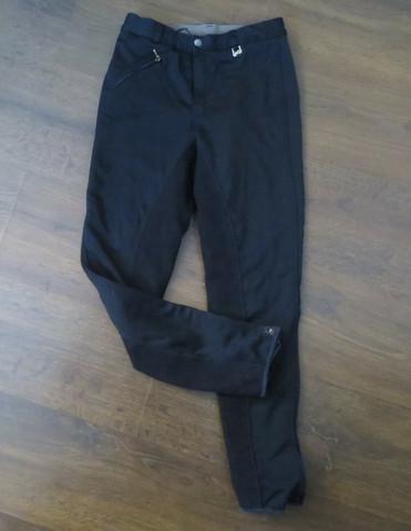 Eurohunter fleecevuorelliset mustat ratsastushousut 150 cm