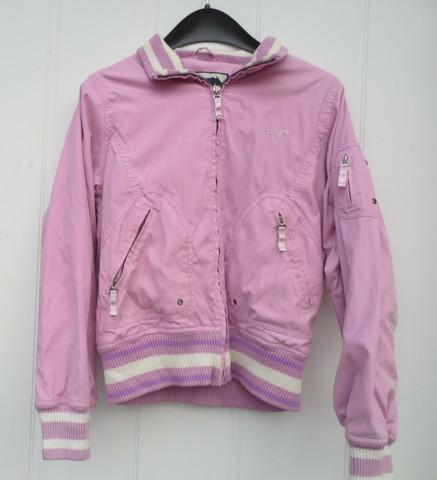 Vaaleanpunainen kevät- ja syyskauden takki 38