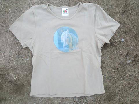 UUSI khaki T-paita Kuningas Viesker-painatuksella, XL koko