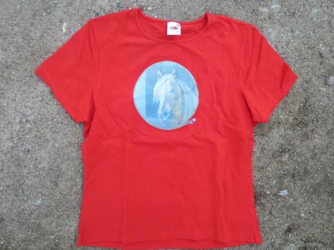 UUSI punainen T-paita Kuningas Viesker-painatuksella, XL koko
