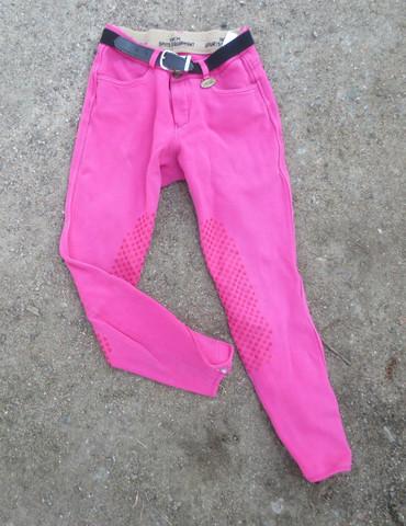 Pinkit ratsastushousut gripeillä 152 cm