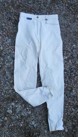 John Whitaker vaaleat ratsastushousut kangaspolvipaikoilla 34/36