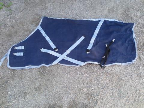 Horzen tummansininen vohveliloimi 170 cm