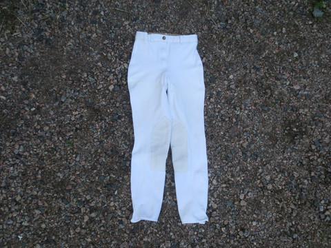 Cotton Naturals valkoiset ratsastushousut polvipaikoilla 36