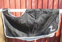 Horze musta ratsastusloimi fleecevuorella, selkämitta 75 cm