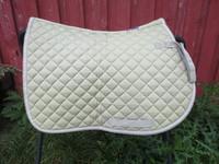 Horzen vaaleanvihreä neliön mallinen satulahuopa, PONY
