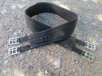 Musta Aerbornin nyloninen satulavyö 125 cm