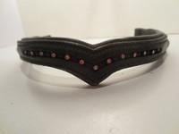 V-mallinen musta timanttiotsapanta 41 cm