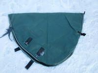 Vihreä Bucas kaulakappale fleecevuorella ulkoloimeen 155 cm