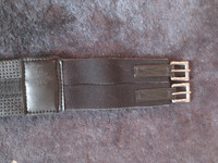 Neopreeninen satulavyö joustoilla, kapeat soljet 110 cm