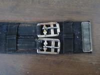 Musta kankainen satulavyö 57 cm