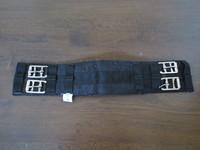 Musta kankainen Hubertus satulavyö 45 cm