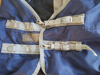 Tummansininen Thermo Master sadeloimi fleecevuorella 140 cm