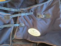 Tumman sininen Horse Comfort sadeloimi fleecevuorella 165 cm