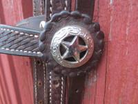 Ruskeat western suitset ohjilla FULL/XFULL