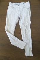 Kingslandin valkoiset ratsastushousut kangaspolvipaikoilla 36