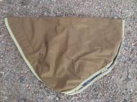 Ruskea Bucas ulkoloimen kaulakappale liukkaalla vuorella L