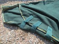 Tummanvihreä fullneck fleece 150 cm