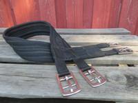Kankainen musta satulavyö 100 cm