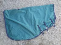 Vihreä pitkä kaulakappale sadeloimeen, fleecevuori FULL